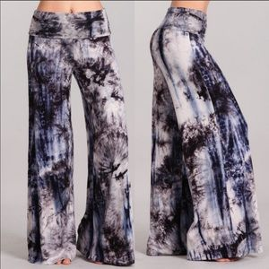 0748d44705 Pants - Plus size Tie dye palazzo pants trousers boho